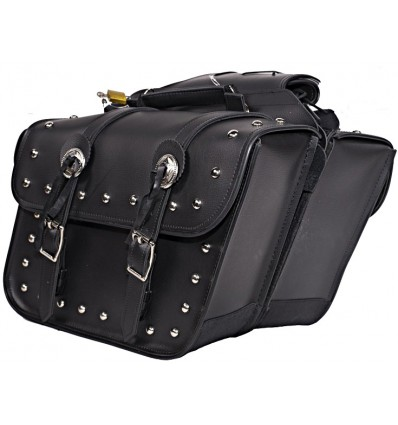 Slanted Saddlebags with Studs and Conchos