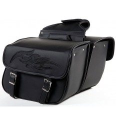 Medium Size Saddlebags with Flames
