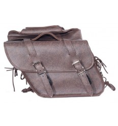 Brown Plain Style Slanted Saddlebags