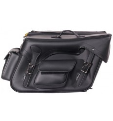 Large Plain Saddlebags with Exterior Pockets