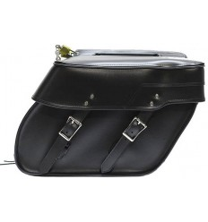 Medium Size Plain Style Slanted Saddlebags