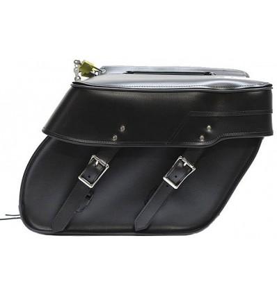 Medium Size Plain Style Slanted Saddlebags