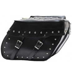 Medium Size Slanted Saddlebags with Studs