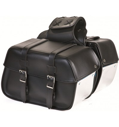 Medium Size Saddlebags with Chrome Plates