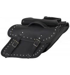 Slanted Studded Saddlebag for Harley-Davidson Dyna Models