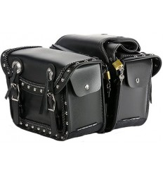 Saddlebags with Studs, Braid and Conchos
