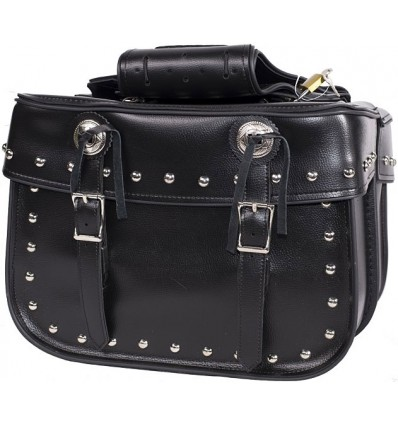 Medium Size Saddlebags with Studs and Conchos