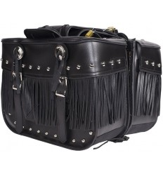Medium Size Saddlebags with Studs, Conchos and Fringe