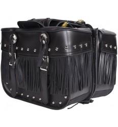 Medium Size Saddlebags with Studs, Conchos and Fringe