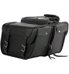 Medium Size Plain Style Saddlebags with Braid