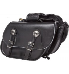 Medium-Small Size Slanted Saddlebags with Reflective Trim