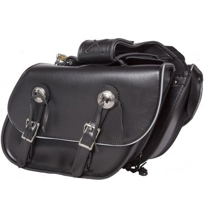 Medium Size Slanted Saddlebags with Reflective Trim
