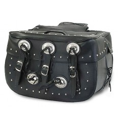 Large Saddlebag with Studs and Conchos