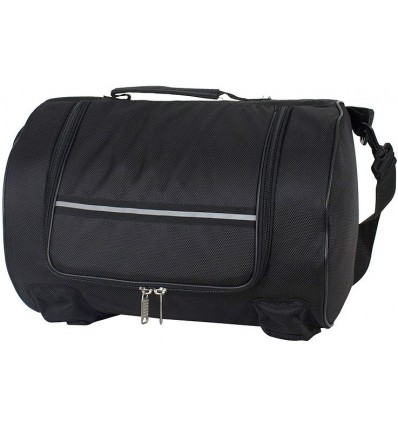 Round Textile Sissybar Bag with Reflective Stripe