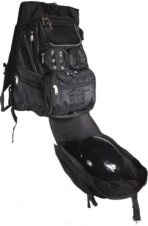 Motorcycle Backpack with Helmet Holder - SaddleBag Depot