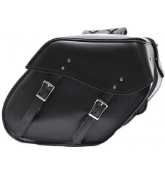 Medium Size Plain Slant Style Saddlebags