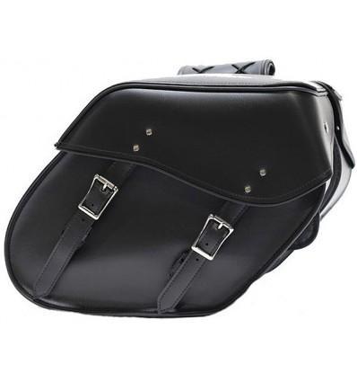 Medium Size Plain Slant Style Saddlebags