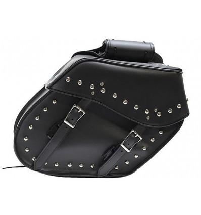 Medium Size Slant Style Saddlebags with Studs
