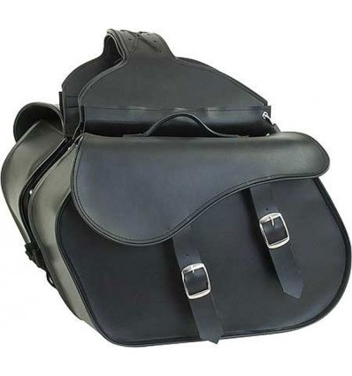Medium-Large Size Plain Style Slanted Saddlebags