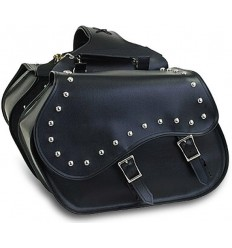 Medium-Large Size Slanted Saddlebags with studs
