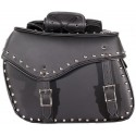 Medium Size Motorcycle Saddlebags with studs