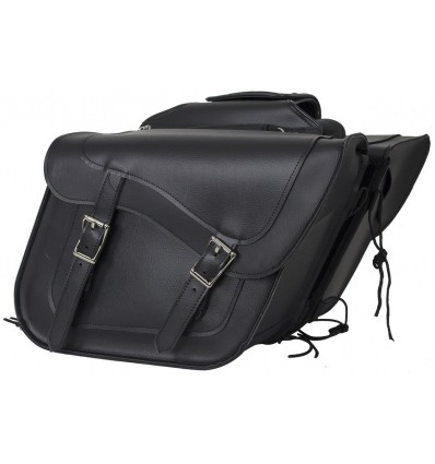 Black Motorcycle Saddlebags with Gun Holsters