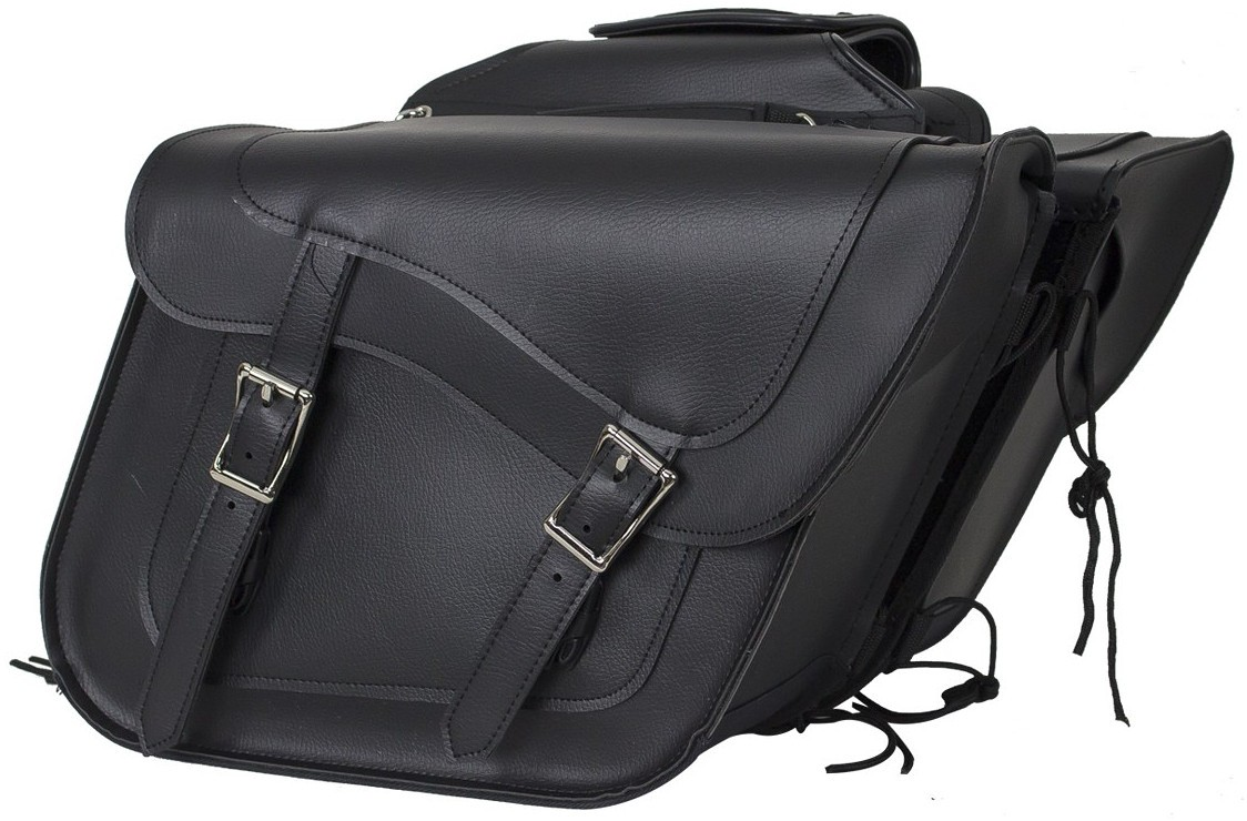 Black quick release throwover motorcycle saddlebags with for Motor cycle saddle bags