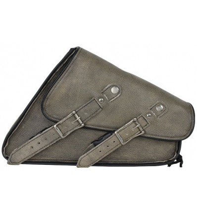 Distressed Brown Leather Left Side Swing Arm Bag