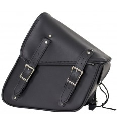 Black Motorcycle Swing Arm Bag Left Side PV
