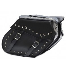 """Smaller 14"""" Motorcycle Saddlebag With Studs"""