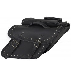 Slanted Studded Saddlebag for Harley-Davidson Dyna Models