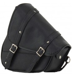 Black Leather Swing Arm Bag Left Side