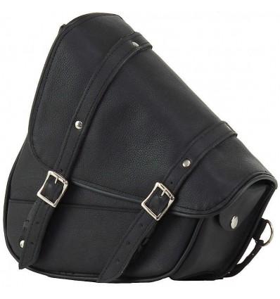 Black Leather Swing Arm Bag Left Side