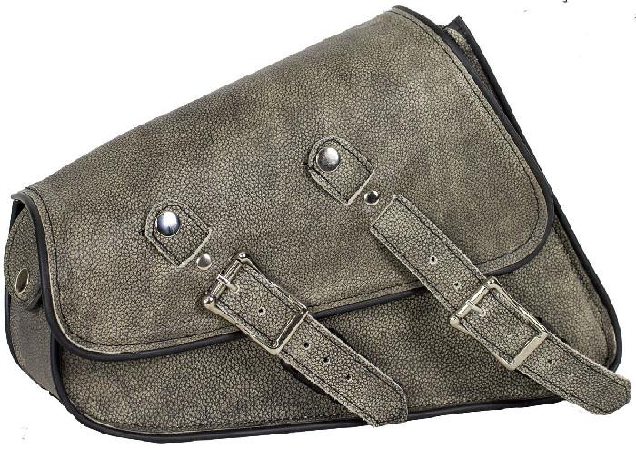Distressed Brown Leather Swingarm Saddlebag